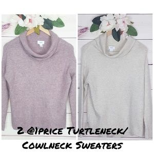 Old Navy | 2 @1price Turtleneck/Cowlneck Sweaters